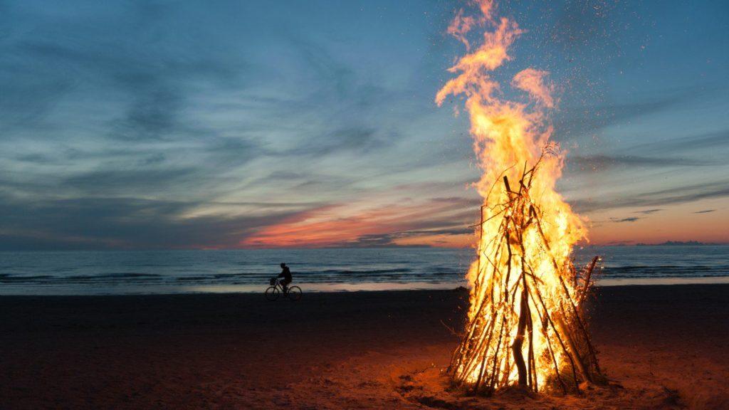 San Juan Solstice Hoguera Bonfire